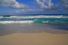 Tropisch zie met golven Stock Foto