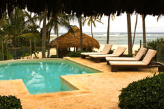 Tropisch zwembad Royalty-vrije Stock Foto