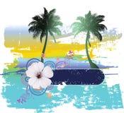 Tropische Abstracte Achtergrond Stock Afbeelding
