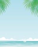 Tropische achtergrond Royalty-vrije Stock Foto