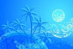 Tropische achtergrond Royalty-vrije Illustratie