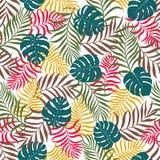 Tropische achtergrond met palmbladen Royalty-vrije Stock Foto