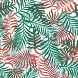 Tropische achtergrond met palmbladen Stock Afbeelding