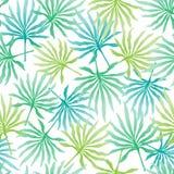 Tropische achtergrond met palmbladen Stock Afbeeldingen