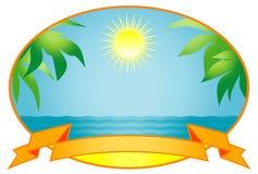 Tropische achtergrond. Vector Illustratie royalty-vrije illustratie