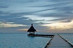 Tropische Anlegestelle Stockfoto