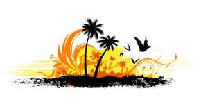 Tropische Auslegung lizenzfreie abbildung