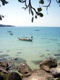 Tropische baai stock foto's