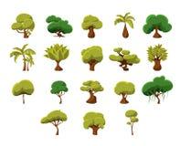 Tropische Baum-Sammlung Lizenzfreie Stockfotos