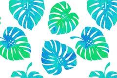 Tropische bladeren, monsterapatroon Stock Foto