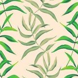 Tropische Bladeren naadloos modieus manierpatroon Royalty-vrije Stock Fotografie