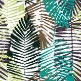 Tropische bladeren, wildernispatroon Naadloos, gedetailleerd, botanisch patroon Het kan voor prestaties van het ontwerpwerk noodz Stock Foto's