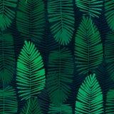 Tropische bladeren, wildernispatroon Naadloos, gedetailleerd, botanisch patroon Het kan voor prestaties van het ontwerpwerk noodz vector illustratie
