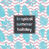Tropische Bladerenkaart 1 Royalty-vrije Stock Foto