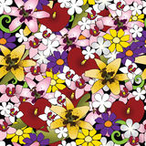 Tropische bloemachtergrond royalty-vrije stock afbeelding
