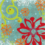 Tropische BloemenAchtergrond Royalty-vrije Stock Afbeeldingen