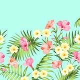 Tropische bloemslinger royalty-vrije illustratie
