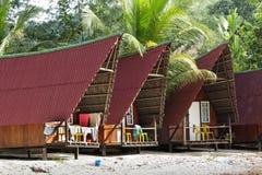 Tropische bungalow royalty-vrije stock foto's