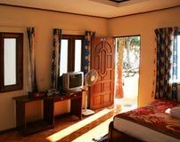 Tropische bungalow Royalty-vrije Stock Afbeeldingen