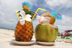 Tropische cocktails Royalty-vrije Stock Foto's