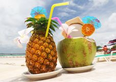 Tropische cocktails Stock Foto