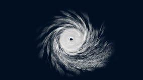 Tropische cycloon met alpha- steen, CG-animatie stock footage