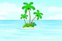 Tropische de zomeroceaan stock illustratie