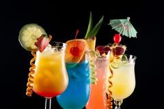 Tropische dranken - de Meeste populaire cocktailsreeks royalty-vrije stock foto's