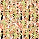 Tropische druk Het Naadloze Patroon van de wildernis Vector Tropisch de Zomermotief met Hawaiiaanse Bloemen Royalty-vrije Stock Fotografie