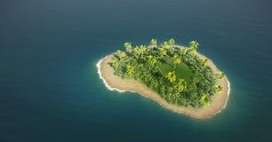 Tropische Eiland Luchtmening royalty-vrije stock fotografie