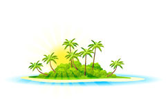 Tropische eilandachtergrond Stock Foto