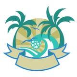 Tropische eilanden royalty-vrije illustratie