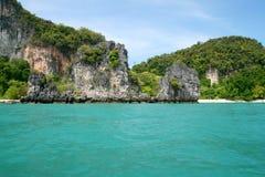 Tropische eilandkust royalty-vrije stock afbeelding