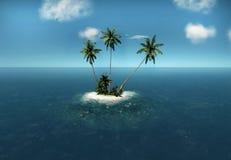 tropische eilandpalmen royalty-vrije stock afbeelding