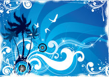 Tropische eilandsamenvatting Stock Illustratie