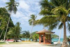 Tropische eilandscène stock fotografie