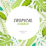 Tropische exotische bladerenachtergrond vector illustratie