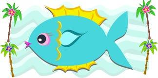 Tropische Fisch-und Palmen Lizenzfreie Stockfotografie
