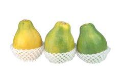 Tropische Früchte der frischen Papaya Lizenzfreie Stockfotos