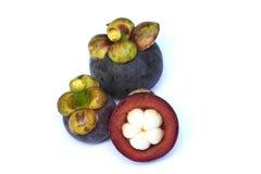 Tropische Frucht der Mangostanfrucht Lizenzfreies Stockfoto