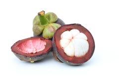 Tropische Frucht der Mangostanfrucht in Thailand. stockfotos
