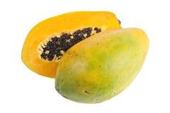 Tropische Frucht - Papaya Lizenzfreies Stockfoto
