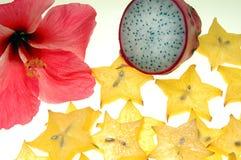 Tropische Frucht und Blume Stockfoto