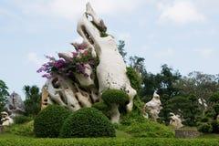 Tropische gardeni n Thailand Stock Foto