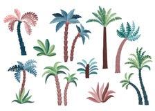 Tropische geplaatste palmen Stock Foto