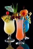 Tropische Getränke - die meiste populäre Cocktailserie Stockfoto