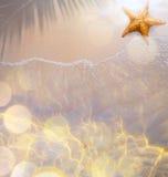 Tropische het strandachtergrond van Art Summer royalty-vrije stock afbeeldingen