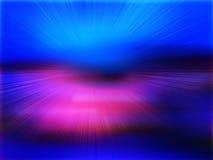 Tropische horizon abstracte blauwe achtergrond Royalty-vrije Stock Afbeelding