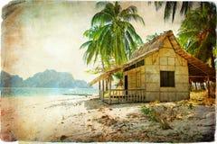 Tropische hut Stock Afbeelding