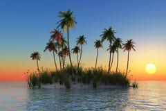 Tropische Insel stock abbildung